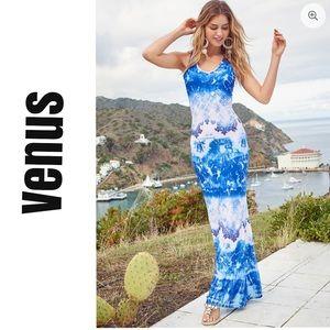 NWOT Venus Go With the Flow Crochet Maxi Dress
